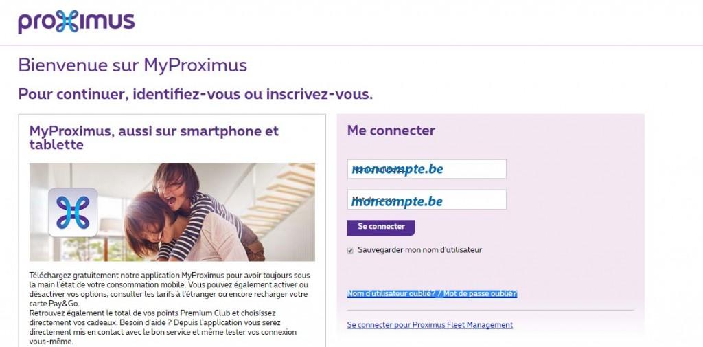 Myproximus recharge de mon compte pay and go - Compte facily pay ...
