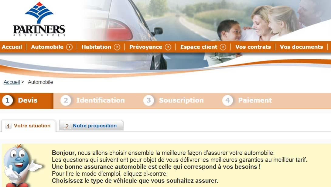 espace client partners assurance