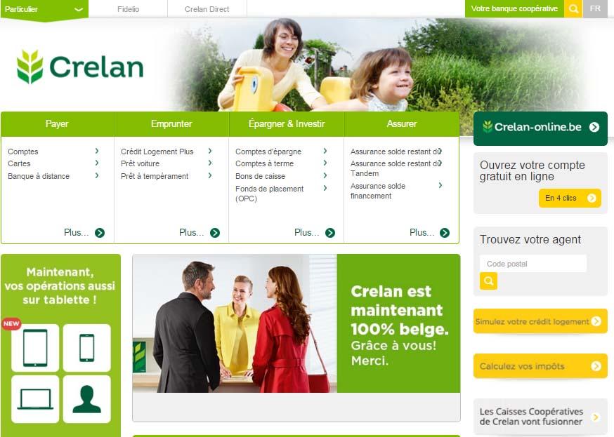 banque crelan belgique