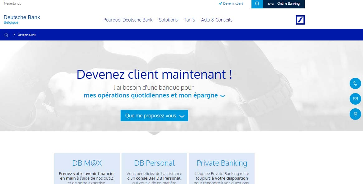 deutsche bank Belgique online