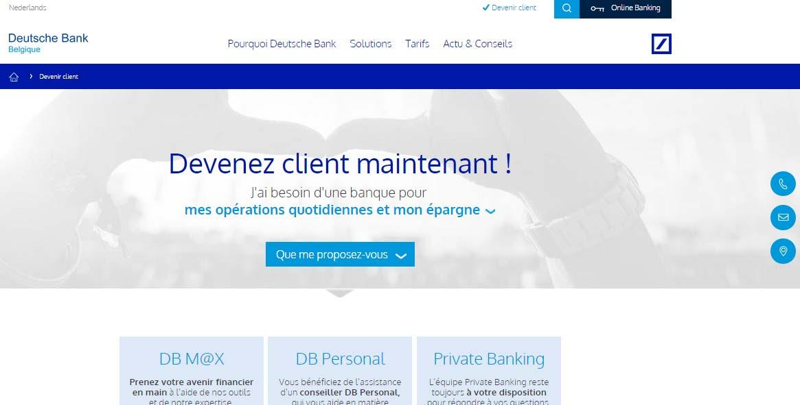 deutsche bank Belgique online