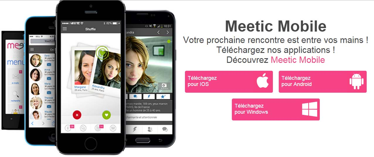 application meetic mobile