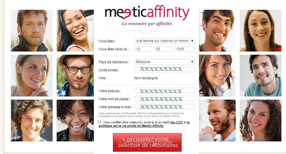 inscription meetic affinity belgique