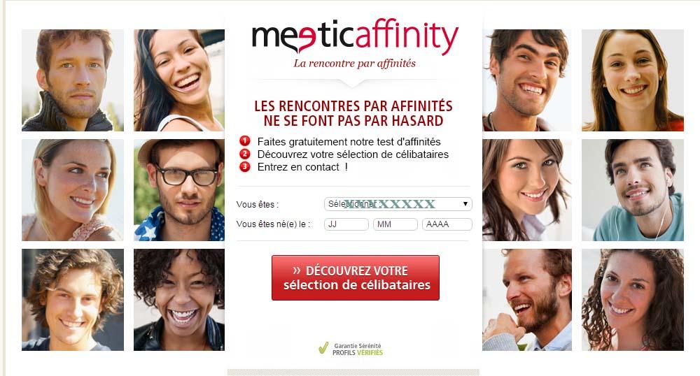 s'inscrire sur meetic affinity belgique