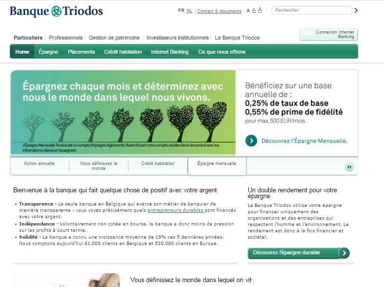 banque triodos belgique