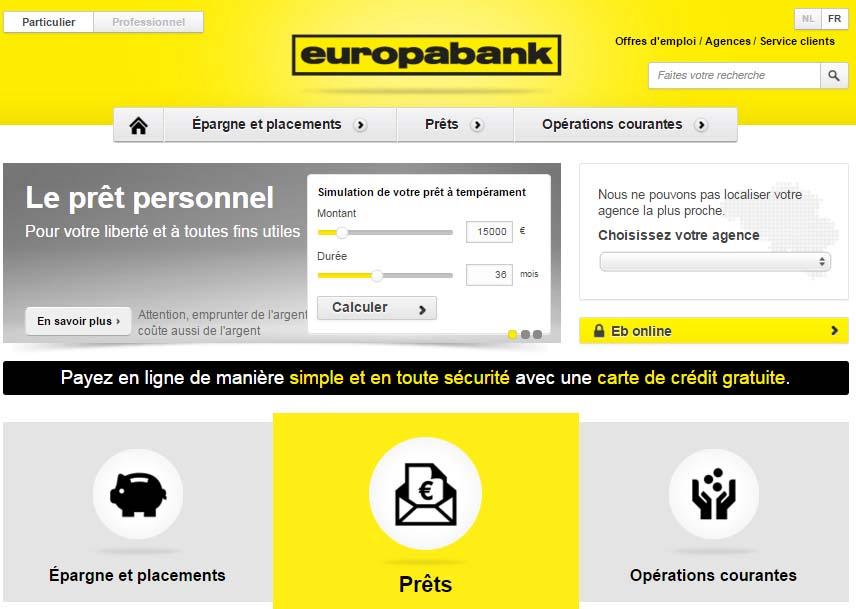 Banque europabank Belgique