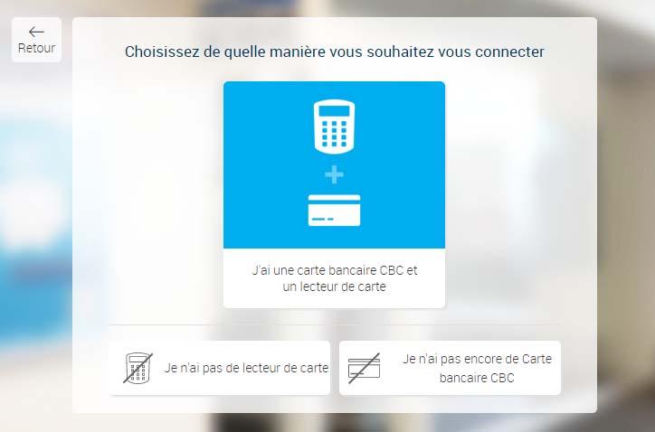 connexion cbc touch
