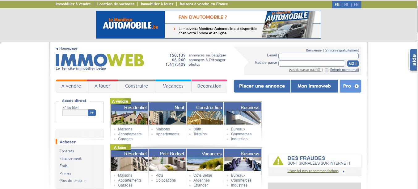 Site d 39 annonces immobili res en belgique - Site de vente en belgique ...