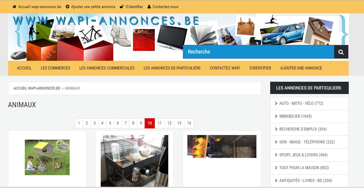 wapi-annonces:petites annonces en belgique