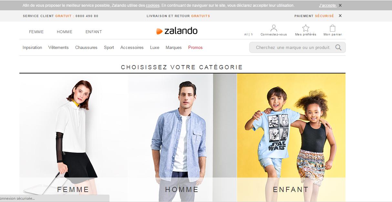 zalando :boutique de vente en ligne