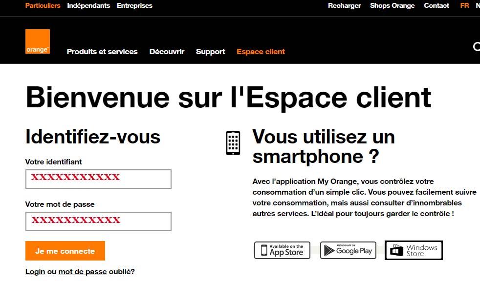 connexion espace client orange