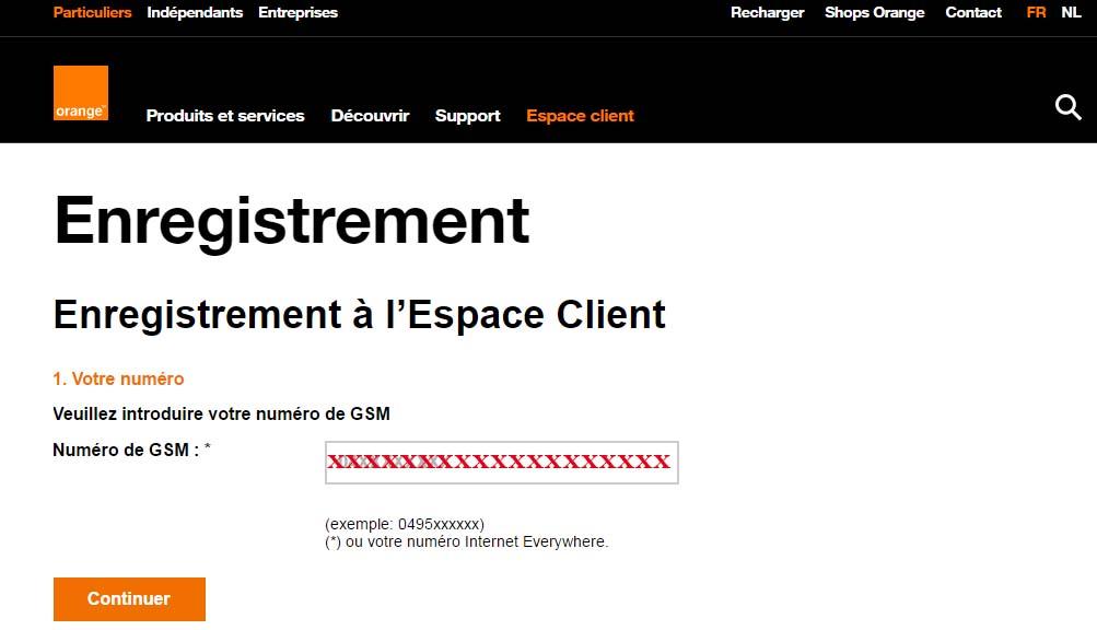 orange belgique espace client