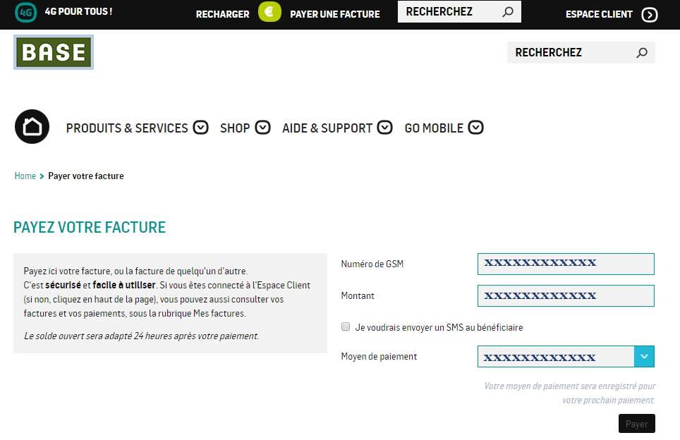 espace client online op rateur base belgique. Black Bedroom Furniture Sets. Home Design Ideas