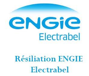 Résiliation contrat ENGIE Electrabel