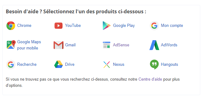 contact Google Belgique