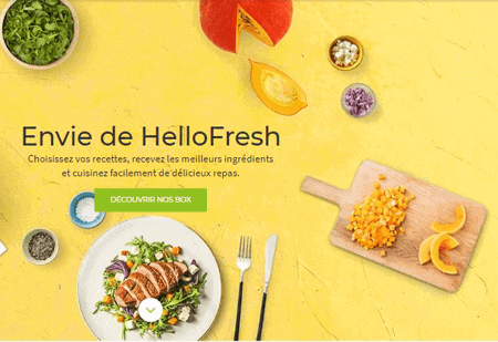 Hello fresh menu