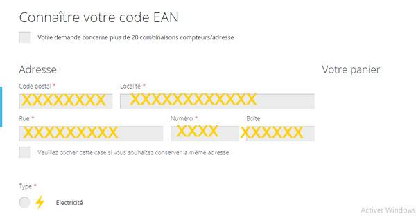Obtenir mon code EAN ores