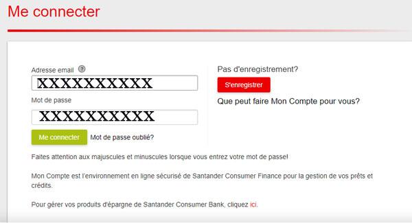 Santander connexion
