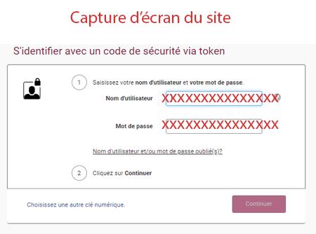 S'identifier avec un code de sécurité via token