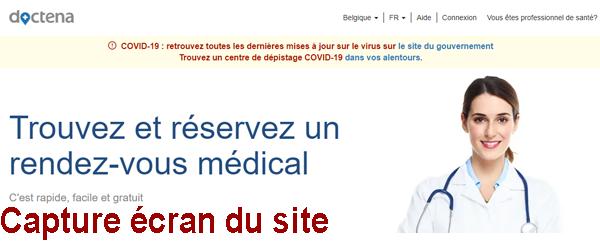Se connecter à mon compte gratuit Doctena.be et prendre un rendez-vous médical en ligne